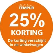 Tempur 25% korting